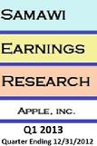 samawi earning research estimate apple inc. Q1 2013